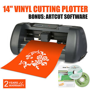 14 Vinyl Cutting Plotter Sign Cutter W Table Printer Sticker Wide For