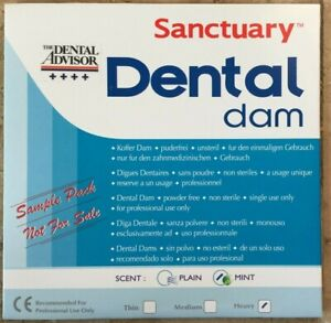 20 Box 720 Sheet Sanctuary Dental Rubber Dam Latex 6x6 Medium Blue Wholesale Pri