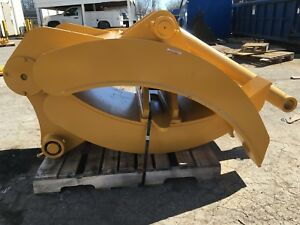 New 42 Heavy Duty Excavator Grapple For Komatsu Pc200