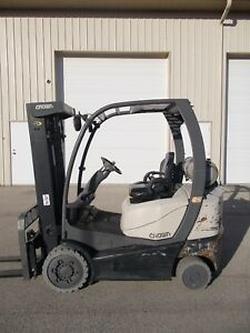 2011 Crown C51000 5000lb Forklift Lpg 3 Stage Mast Lift Truck Tow Hilo Fork