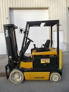 2008 Yale Erc060 5000lb Forklift 2 Stage Mast Lift Truck Hilo Fork Erc60