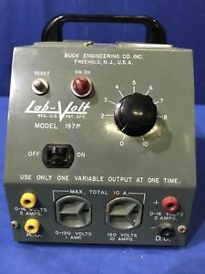 Vintage Lab volt 197p Variac Portable Ac Dc Variable Output Bench Power Supply