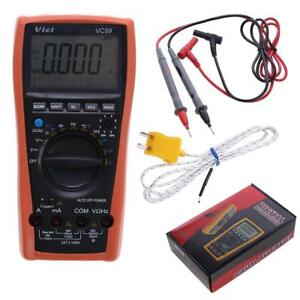 Lcd Digital Multimeter Auto Range Resistance Thermometer Capacitance Vc99 3 6 7