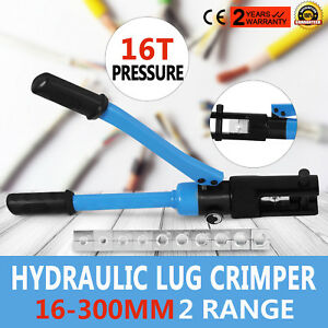 16 Ton Hydraulic Wire Terminal Crimper Set Lug Crimping Tools Heavy Duty On Sale