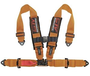 Stv Motorsports Racing Seat Belt Harness Orange 4 Point 2inch Polaris Rzr Xp1000