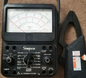 Simpson 260 Series 7 Multimeter Volt ohm milliammeter With Amp Clamp Model 150 2