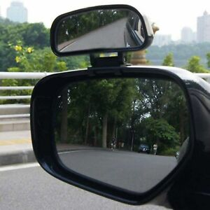 4 5x2 Large Adjustable Blind Spot Mirror Car Wide Angle Add On For Driver Side