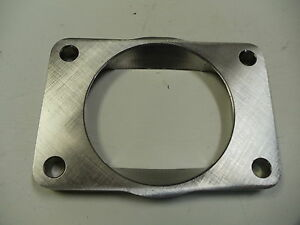 Stainless T6 Undivided To 3 0 Inch Inlet Transition Turbo Flange 1 2 Cnc S400
