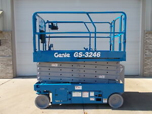 2012 Genie Gs 3246 32ft Electric Aerial Gs3246 Scissor Lift Boom Manlift Man