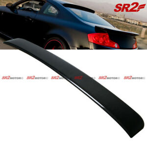 Rear Carbon Fiber Rear Window Visor Guard Roof Spoiler Wing Fits 03 07 G35 Coupe