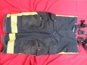 Janesville Firefighter Turnout Gear Bunker Pants 40xs Snap Out Liner Suspenders
