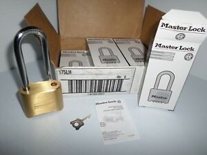new Box Of 6 Master Lock 175lh Brass Combination Long Shackle Re settable