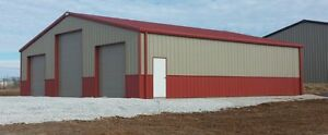 Steel Building 50x50x12 Simpson Storage Kit Metal Garage Shop Storage Prefab