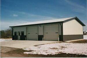Steel Building 40x100x16 Simpson Garage Metal Auto Body Shop Prefab Structure