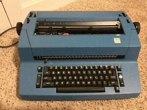 Ibm Selectric Ii Typewriter Blue Parts Local Pickup In Eugene Oregon Only