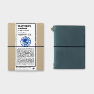 Traveler s Notebook Passport Size Blue Leather Cover Midori Japan 15240006