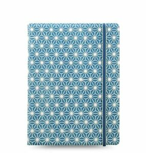 Filofax Notebook A5 Impressions Blue white Notebook Spiral Binding 115039