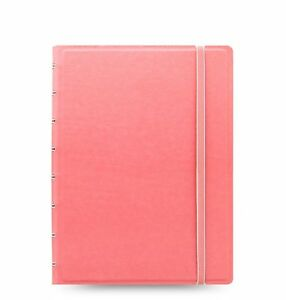 Filofax Notebook A5 Classic Pastels Rose Faux Lether Notebook Closure 115053
