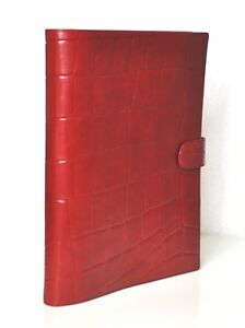 Succes Firenze A4 Writing Case Red Conference Folder 0 5 8in Leather 4 ringung