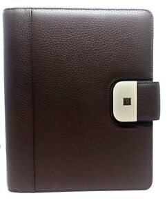 Time System Cosmo A5 Chocolate Ring Binder Business 0 31 32in Vl Organiser