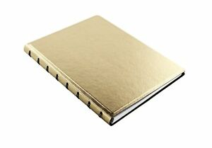 Filofax Notebook Saffiano A5 Golden Notebook Faux Lether Refillable 115036