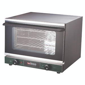 New Commercial Electric Convection Oven Quarter Size Winco Eco 250 120v