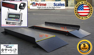 Usa Made Truck Scale 7ft Portable Axle Scale Android Scale Software 60 000 Lb
