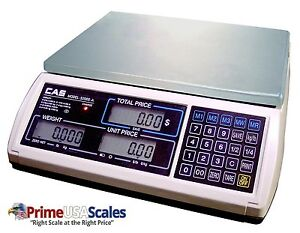 Cas S 2000 Jr Price Computing Scale With Lcd Display 60 Lbs
