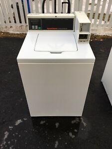 1 White Speed Queen Digital Top Loader Commercial Washer Laundromat Coin