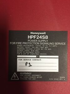 Honeywell Fire Alarm Power Supply Hpf24s8