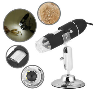 2mp 1000x 8 Led Usb 2 0 Digital Microscope Endoscope Zoom Camera Magnifier stand