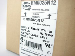 New Hammond Rm0025n12 Line Reactor Copper Winding Variable Speed Drives b488