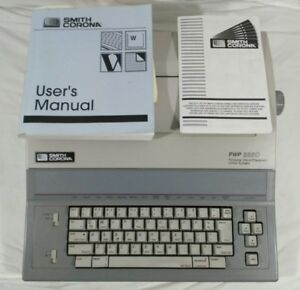 Smith Corona Typewriter Word Processor Pwp 3850 Manual Excellent Condition