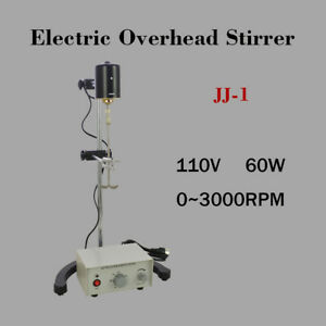 Electric Overhead Stirrer Mixer Biochemical Lab Drum Mix Height Adjustable