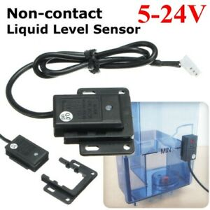 5 24v Non contact Tube Tank Liquid Water Level Detect Sensor Switch Container