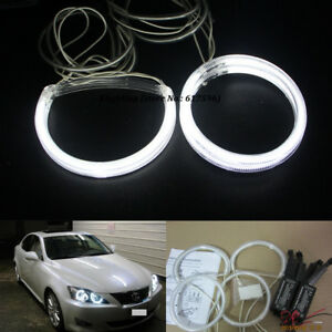 4pcs White Ccfl Angel Eyes Halo Rings For Lexus Is250 Is350 With Inverters
