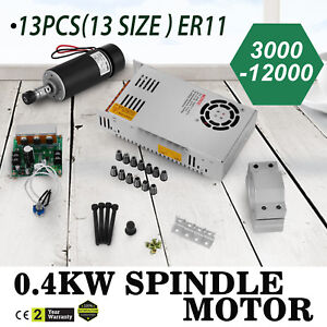 Cnc 0 4kw Spindle Motor Er11 mach3 Pwm Controller mount Cheap 12 48vdc Engraving
