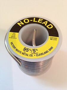 Victory Plumbing Solder No Lead 95 Tin 5 Antimony 16 Oz