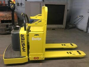 Hyster B60zac 6000 Lb Capacity Ride Along Electric Pallet Jack