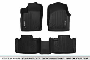 13 2015 Grand Cherokee durango W o 2nd Row Console Floor Mats 1st 2nd Row Liners