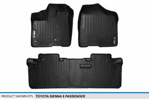 2013 2019 Sienna 8 Passenger Floor Mats Black 1st 2nd Row Protection Liners