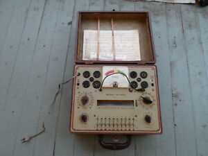 Vintage Heathkit Model Tc 2 Tube Checker
