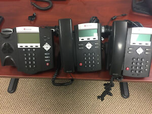 Used Polycom Soundpoint Ip 335 Voip Digital Office Business Phone Lot Of 2