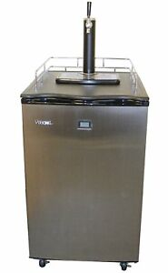 Versonel Vsl155tdss Keg Kegerator Beer Fridge Dispenser Lcd Temp Stainless Steel