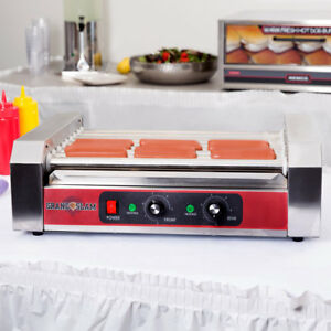 Commercial 18 Hot Dog Roller Grill With 7 Rollers 110v 1200w