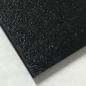 Abs Black Plastic Sheet 1 8 X 24 X 24 Textured 1 Side Vacuum Forming