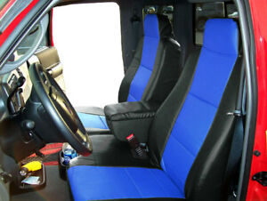 Ford Ranger 06 09 Black Blue S Leather Custom Made Front Seat Console Cover