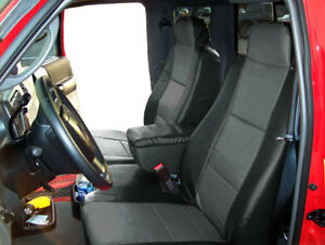 2006 2009 Ford Ranger 60 40 Black charcoal S leather Custom Fit Seat Covers