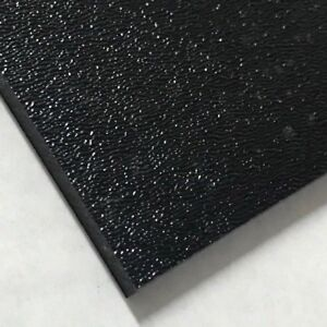 Abs Black Plastic Sheet 1 8 X 36 X 24 Textured 1 Side Vacuum Forming