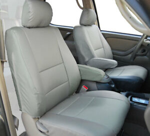 Toyota Tundra 2000 03 Grey S leather Custom 2 Front Seat 2 Armrest Covers